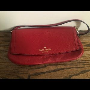 Kate Spade cherry red clutch